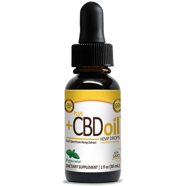 PlusCBDOil Gold Drops Peppermint
